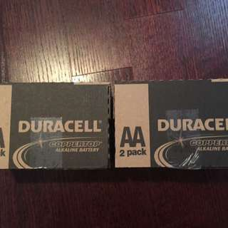 Duracell batteries - AA Batteries - 2 LARGE boxes available- NEW