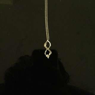 Silver Infiniti necklace