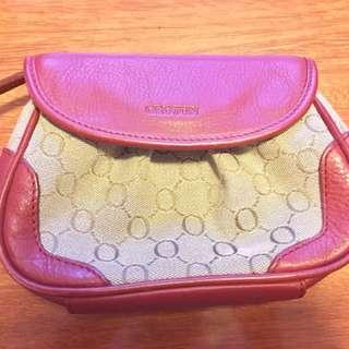 Vintage Oroton signature makeup bag/clutch