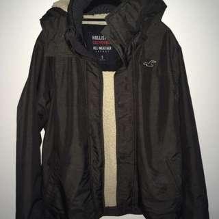 Hollister dark grey winter jacket