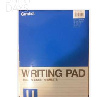 Writing pad (with lines or blank)