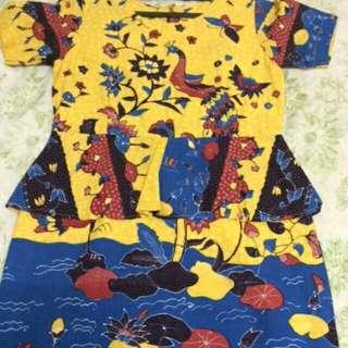 Dress Batik peplum