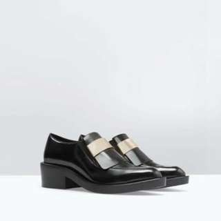 ZARA Moccasins with gold plate details
