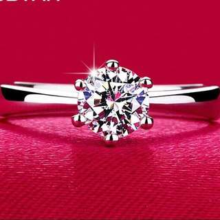 CLASSIC CLAW 6mm 1CT AAA CZ RING
