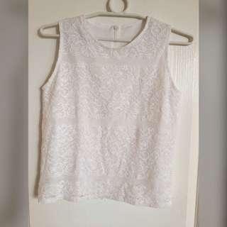 Lacy white blouse