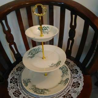 3-tier from Claytan reproduction of kopitiam plates