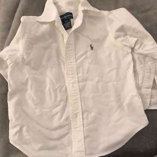 Ralph Lauren boys white shirt size 2