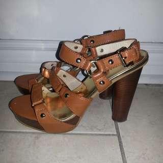 Michael Kors tanned heels