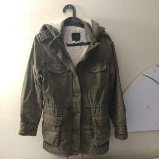 Aritzia Talula Olive Green Fall Jacket