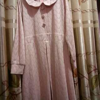 Baju terusan pink size L-xl