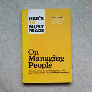 HBR'S 10 MUST READ - On Management People