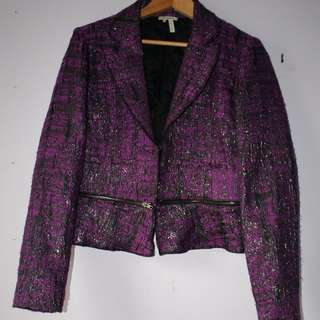 Purple & Black Tweed jacket by MANOUKIAN - Size M -