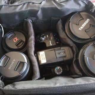 Sony A37 DSLR Set + 4 Lens