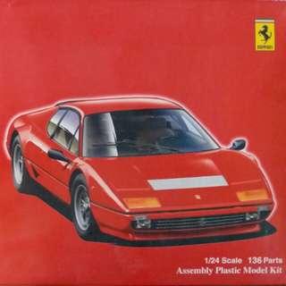 FUJIMI 《FERRARI 法拉利 BB512i》1:24 盒裝模型(送法拉利專用紅色噴漆一罐)