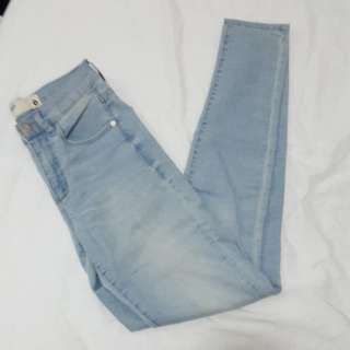 High-waisted garage jeans