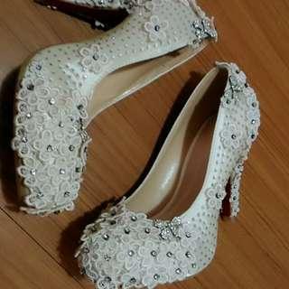 手工婚鞋37