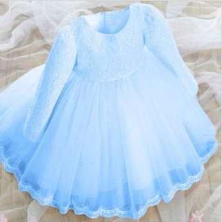 Baby Blue Flower Girl Dress