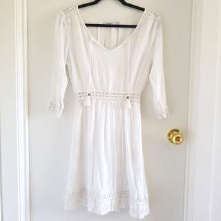 Jeans west boho chic white dress