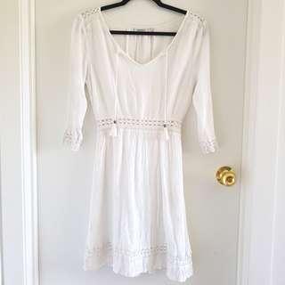 Jeans west boho chic white dress