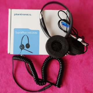 Plantronics HW261N Binaural Headset + Direct Connect Cable