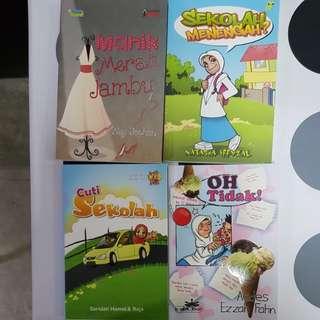 4 Malay story books