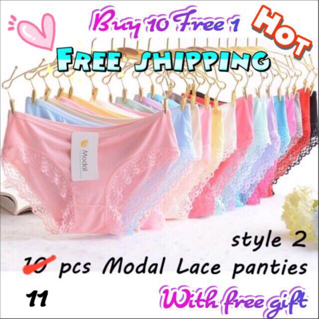 11pcs panties free shipping