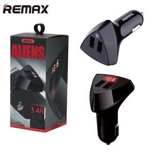 REMAX Car Charger Aliens LED Display 2 USB port 3.4A