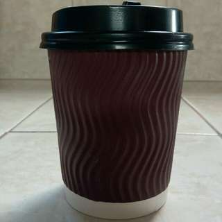 Rippled Coffee Paper Cup
