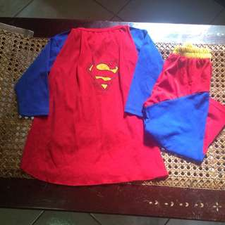 Superman costume for 3-4 years old boy/ used once