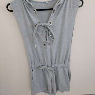 Blue/grey summer casual playsuit
