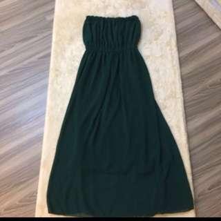 🌟雪紡紗 平口連身裙