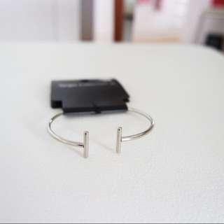 BN Minimalistic Silver Bar Bracelet Bangle