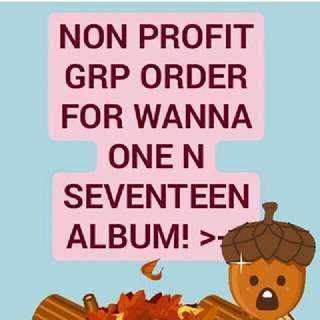 NON PROFIT ORDER FOR SEVENTEEN TEEN AGE ALBUM