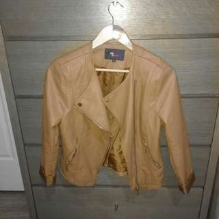 TEMP TAN LEATHER JACKET