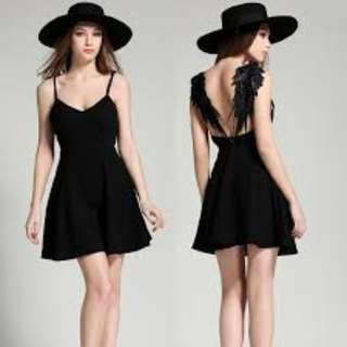 Black dress with wings BNWT