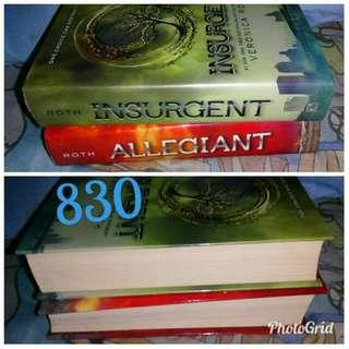 insurgent allegiant hardbound book 2 and 3 of divergent series negotiable