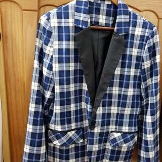 🚚 格綾紋西裝外套