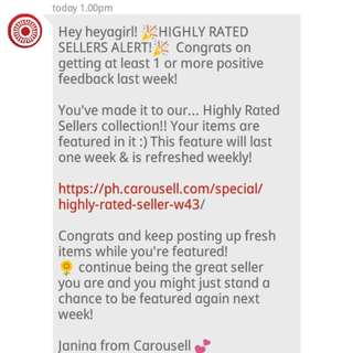 Highly Rated Seller Again 2nd week!