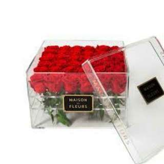 36 Red Roses in Acrylic Gifts box - 0030