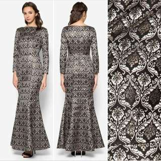 (Rent) Zalia Jacquard Mermaid Dress - size xs