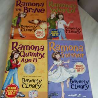 Ramona story books by Beverly Cleary ( set of 4)