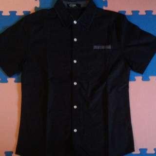 深藍點點襯衫
