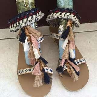 韓國帶回 流蘇 羅馬鞋