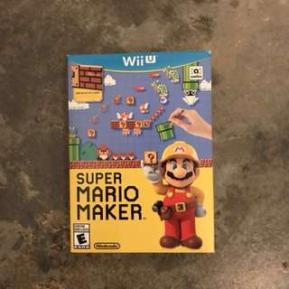 Mario maker wii u (US) boxset with booklet