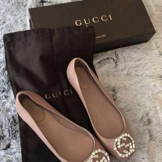 Authentic Gucci ballet flat shoes size 38