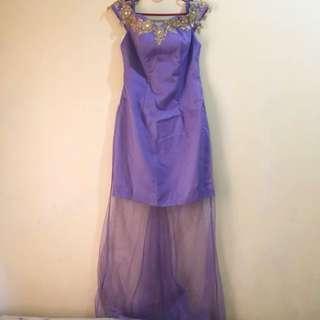 DRESS PURPLE HANDMADE