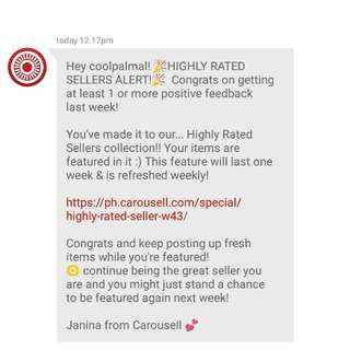 THANK YOU CAROUSELL! 💕