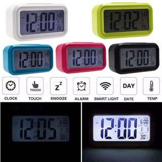 Smart Digital LED Alarm Clock Time with Calendar Temperature Large Display
