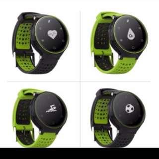 智能手錶 黑綠 錶帶可替換
