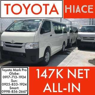 BRAND NEW!!! 2018 Toyota Hiace!!! ALL-IN PROMO LOWEST DP!!! NO HIDDEN CHARGES GUARANTEED!!! ALL-IN Cash Out Wigo Vios Altis Hilux Innova Avanza Camry Hiace Fortuner